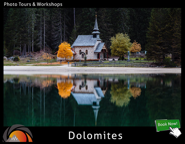 An outstanding high altitude photographic tour, workshop and adventure at the Dolomites mountains in Italy.