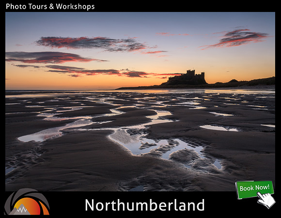 Masterclass long exposure workshop in Northumberland in England. Learn everything about long exposure seascape photography and also enhance your skills on composition, focusing and exposure techniques
