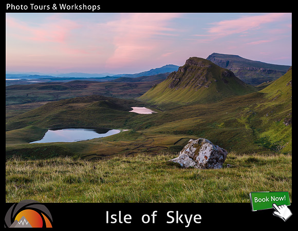 Landscape photography workshop on the Isle of Skye in Scotland. Learn about aperture, shutter speed, composition, focusing and exposure techniques