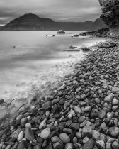 Pebbles And Splashing Waves, Elgol, Isle Of Skye, Scotland