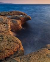 Sun on the rocks, Ayrshire's coastline, Scotland