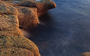 Sun on the rocks, Ayrshire's coastline, Scotland