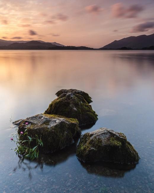 Derwent-Water-Sunset,-Lake-District,-England-7161