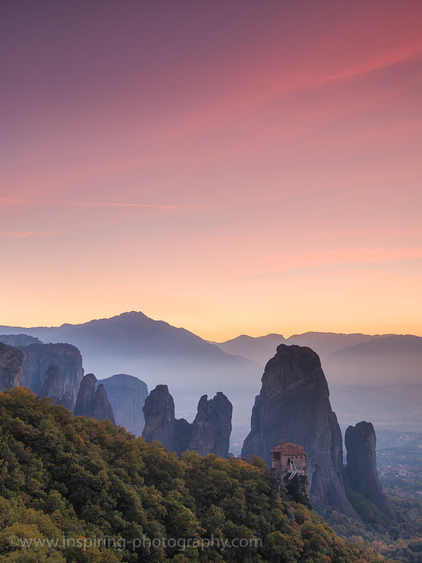 Roussanou-monastery-after-sunset-Meteora-Greece