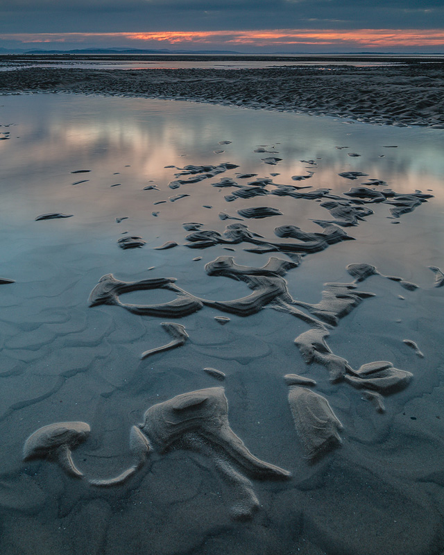 Findhorn Bay Sand Patterns, Moray Coast, Scotland