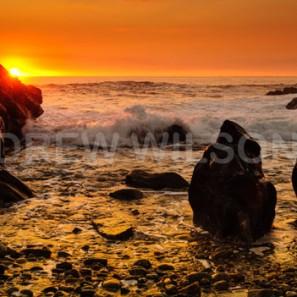 Sunset, Island of Benbecula, Outer Hebrides, Scotland