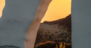 Panormos Bay Chapel Sunrise, Mykonos, Greece