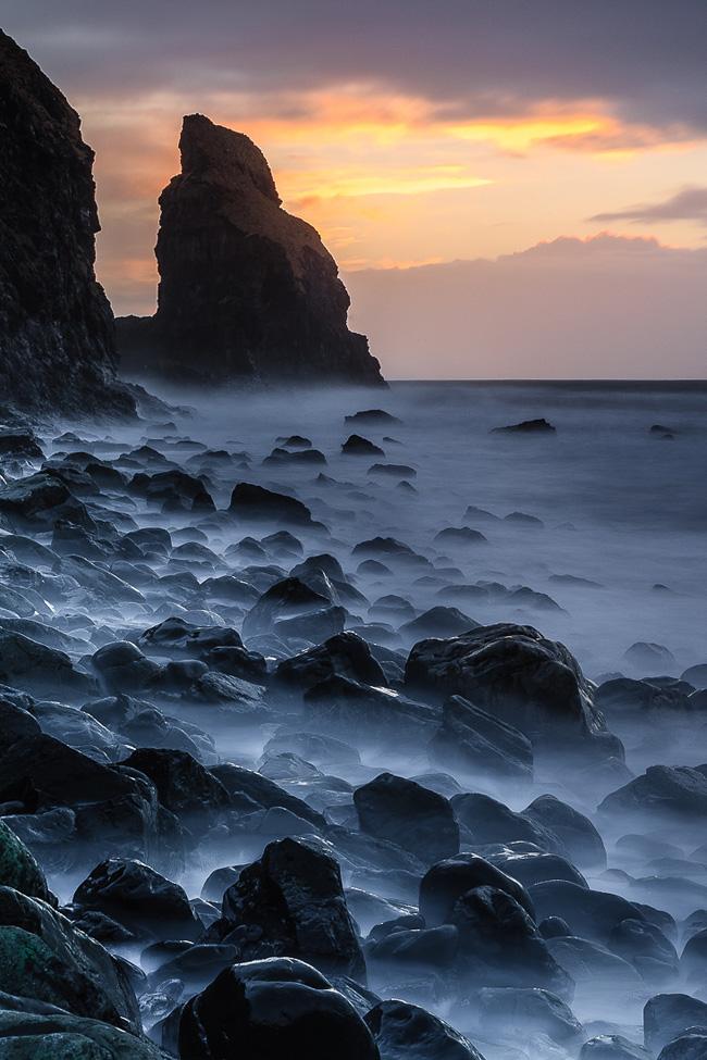 talisker bay sunset  isle of skye  scotland
