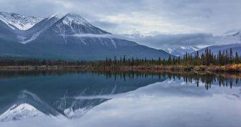 Vermilion Lake Reflections, Alberta, Canadian Rockies