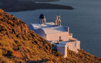 Chapel At Skaros, Santorini, Greece