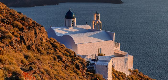 Chapel At Skaros, Santorini, Greece