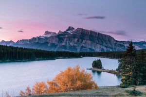 Two Jack Lake Sunrise, Banff NP, Canada