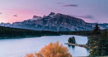 Two Jack Lake Sunrise, Banff NP, Canada