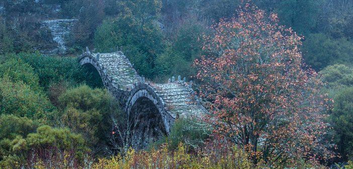 Kalogeriko-old-triple-arched-bridge,-Zagoria,-Greece-4844