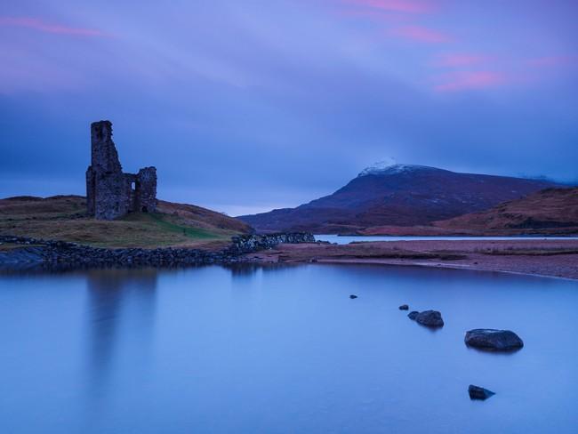 Ardvreck-Castle,-Loch-Assynt,-Assynt,-Scotland